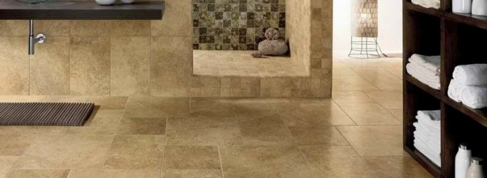 Bathroom-tiles-ideas-with-a-combination-of-large-and-small-sizes-and-ceramic-brown-colors-make-the-room-more-luxurious